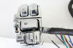 Chrome Handlebar Control Kit S'adapte À Harley-davidson