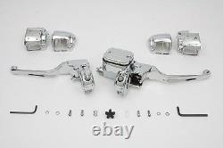 Chrome Handlebar Control Kit S'adapte Flst/fxst 2007-2010,9/16 Bore Master Cylinder