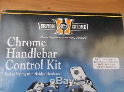 Chrome Kit Guidon De Commande (9/16) M / Cyl Levers Ergo Disque Simple Harley 96 Up