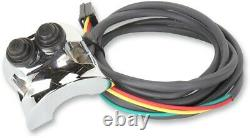 Chrome Legend Handlebar Mounted Control Switch Ensemble Avec Connecteurs Deutsch