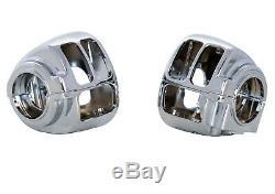 Chrome Poignées De Commande Leviers Kit Boîtiers De Commutateurs Disque Simple Harley 96-06