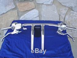 Commandes De Guidon En Chrome Dot 5 96 Up Pour Harley Softail Fatboy Sportster