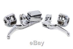 Commandes Du Guidon, Chrome Boîtiers De Commutateur, Chrome Harley Shovelhead Evo XL 82-95