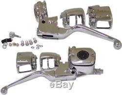 Commandes Guidon Chrome 11/16 Bore Double Disque Harley Davidson 1996/2006