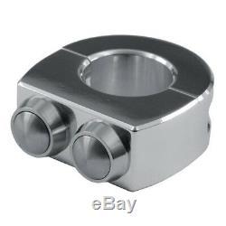 Control 2 Boutons Poli / Inox Handlebar 1 (25,4 Mm)
