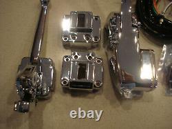 Contrôle Du Guidon Kit Chrome Avec Commutateurs Harley Davidson Fx Fl XL 1972-1981 Nouveau