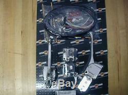 Contrôle Guidon Chromé Kit Avec Commutateurs Pour Harley Davidson 73-81