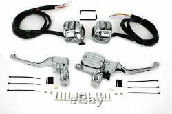 Contrôle Guidon Chrome Kit Pour Harley Davidson Par V-twin