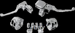 Drag Specialties 0610-0533 Chrome Handlebar Control Kit Avec Embrayage Mécanique