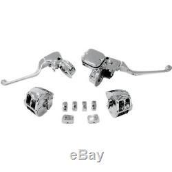 Drag Specialties 0610-0533 Kit De Commande De Guidon Chromé Avec Embrayage Mécanique