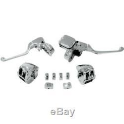 Embrayage Mécanique Contrôle Chrome Guidon Main Kit Harley Softail Dyna 11-15