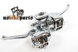 Ensemble De Commande Chromé Pour Maître-cylindre 11/16 Trous Big Twin & XL Harley