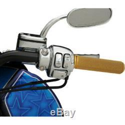 Faites Glisser Le Bouton Chrome Commutateur Cap Guidon Kit De Contrôle Harley Touring Softail 96-13