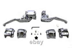 Handlebar Control Kit Chrome S'adapte À Harley-davidson