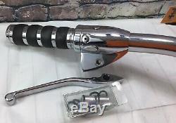 Harley Davidson Climax Guidon / Commandes Manuelles Chrome Avec Fils Assemblés