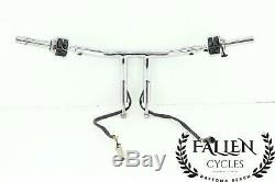 Harley Softail Dyna Glide Roi Chrome 1,25 T Bar Kit De Contrôle Guidon