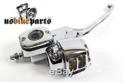 Kit De Commande Chromé Pour Maître-cylindre 11/16 Trous Big Twin & XL Harley
