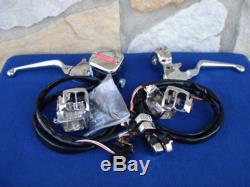 Kit De Commande De Guidon Avec Interrupteurs Chromés Pour Votre Harley 1996-2006