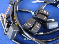 Kit De Commande De Guidon Chromé Avec Interrupteurs W Pour Harley 1996-2006