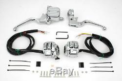Kit De Commande De Guidon En Chrome Pour Harley Softail Sportster Dyna V-twin 22-0823 Y1