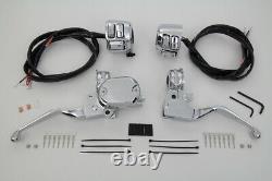 Kit De Contrôle Du Guidon Avec Switches Chrome S'adapte Harley-davidson