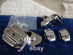 Kit De Couverture De Contrôle Du Guidon Chrome Pour Harley Single Disc Repl Oe # 46098-98