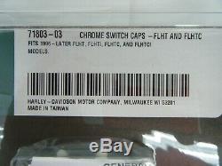 Nib Véritable Commandes Au Guidon Chrome Harley Davidson Kit Flht 70351 08